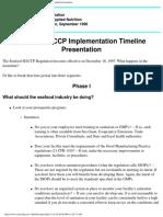 FDA_CFSAN Seafood HACCP Implementation Timeline Presentation