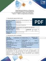 Guía de Actividades y Rúbrica de Evaluación Tarea 3 - Taller La Ingeniería de Sistemas