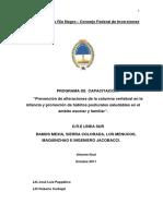 Prevencion de Alteraciones de La Columna Vertebral en La Infancia y Promocion de Habitos Posturales Saludables en El Ambito Escolar y Familiar