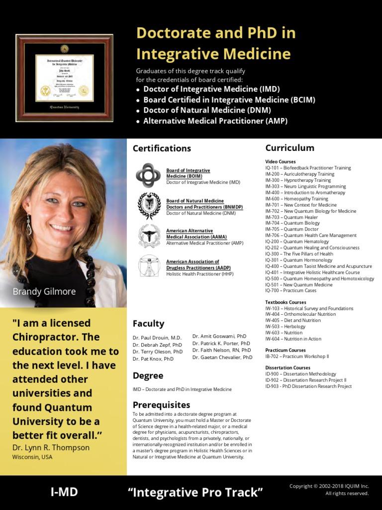 I-MD - Program Sheets | Alternative Medicine (6 views)