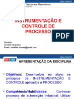 Aula 1 - Instrumentação_Controle (Processos, Atuadores e Sensores - vazão, nível, temperatura e nível)