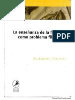 Problemas de La Enseñanza de La Filosofía - Alejandro Cerletti