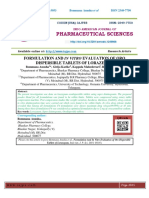 FORMULATION AND IN VITRO EVALUATION OF ORO DISPERSIBLE TABLETS OF LORAZEPAM