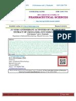IN VITRO ANTIOXIDANT ACTIVITIES OF CHLOROFORM EXTRACT OF CROSSANDRA INFUNDIBULIFORMIS.
