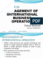Management of International Operation
