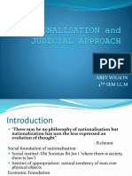 Nationalisation and Judicial Approach