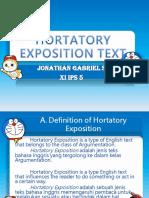 Hortatory Exp