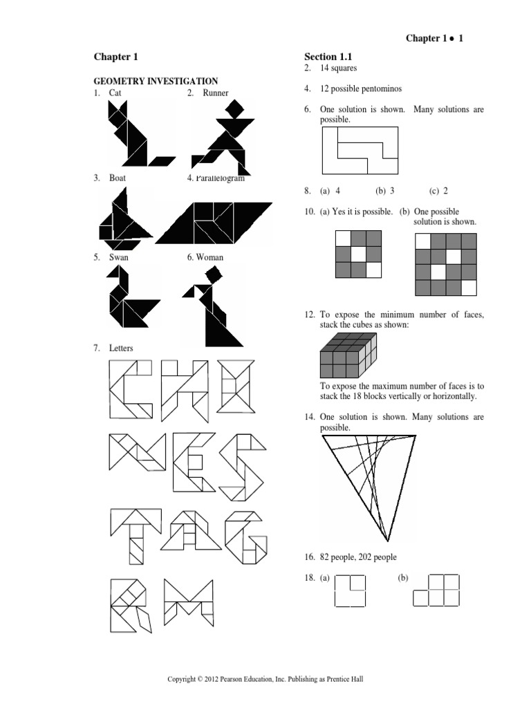 Solution Manual for College Geometry a Problem Solving