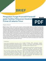 Policy Brief No.6 Januari 2018 - Penguatan Fungsi Promotif-Preventif