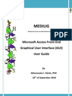 Medilig Fe Msaccess - User Guide