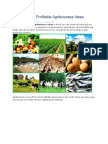 Top 100 Most Profitable Agribusiness Ideas