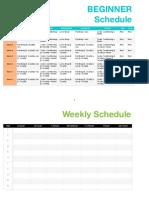 Beginner Body Weight Training Week 1 8 Schedule
