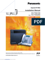 KX-TDA100 - Installation Manual