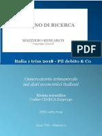 Italia 1 Trim 2018 - Pil Debito & Co