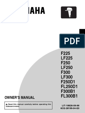 Yamaha F250 Manual pdf | Traffic | Gasoline