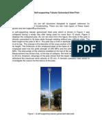 Gulvanized steel pole case study