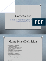 game sense- weebly presentation pdhpe