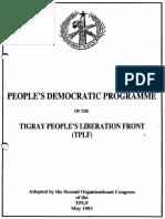 Tigray Program
