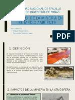 Impacto de La Minería en El Medio Ambiente