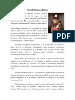 Biografía anónima de Antonio Guzmán Blanco