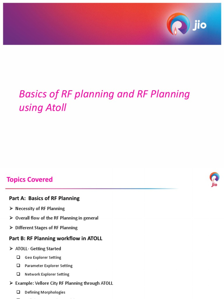 Atoll RF Planning by R singh   Signal To Noise Ratio
