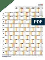 2018 Calendar Landscape Linear