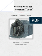 The Accursed Tower - Conversion Notes to 5th Edition (12153180)