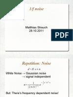 1 Op f Noise Matthias Strauch