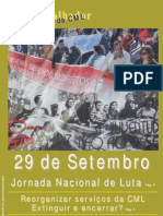O Trabalhador da CML Nº 141 - Setembro/Outubro 2010