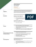 resume- graduation project