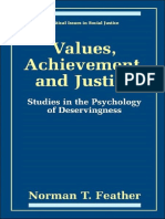Feather, Values, Achievement, And Justice (1999) - The Psychology of Deservingness