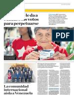 El Hambre Le Da a Maduro Los Votos Para Perpetuarse