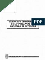 Borrador de ordenanza de Limpeza para Betanzos, do PP