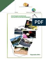 Politique Nationale en Santé Et Environnement