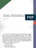 SOAL NEUROLOGI