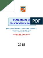 Plan Anual de Educación en Salud 2018