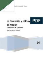 Trabajo de Educación y Proyecto de Nación