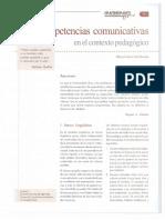 Las Competencias Comunicativas en El Contexto Pedagogico