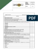 Lista de Cheque Posesion Periodo de Prueba Docentes y Directivos Docente
