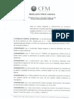 Formulario Conselho Federal de Medicina