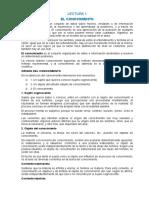 Lecturas Conocimientos, Epistemología, Ciencia, Teoría, Instrumentos 01 Al 06