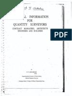 Handbook for Quantity Surveyors by Joglekar PT