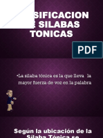 Clasificacion de Silabas Tonicas (1)