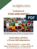 Programma Finale Conferenza Studi Africani