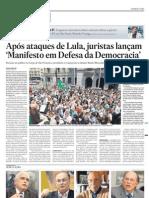 Juristas lançam manifesto em defesa da democracia