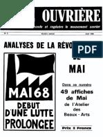 Lutte Ouvrière, n°5, 1 août 1968