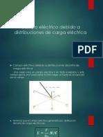Campo Eléctrico Debido a Distribuciones de Carga Eléctrica