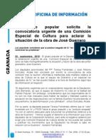 El PP de Granada solicita aclarar la situación de la obra de José Guerrero