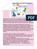 Actividades para desarrollar la Conciencia Fonológica.doc