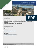 Dissertation - Classical Molecular Dynamics Simulations at Different Levels